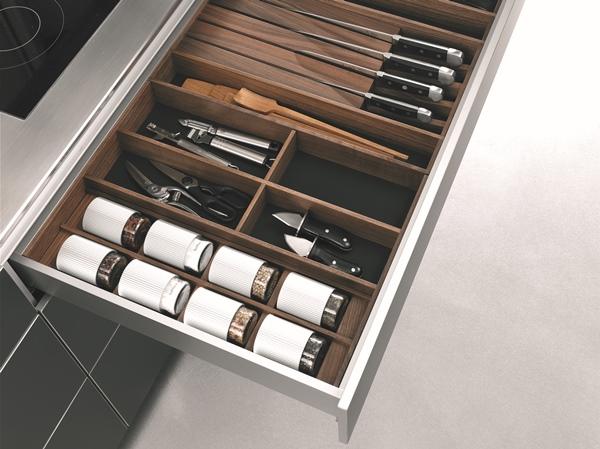Intérieur tiroir cuisine haut de gamme bulthaup b3